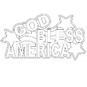 God Bless America Digi Stamp