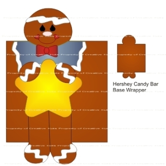 Gingerbread Hershey Candy Bar Wrappers