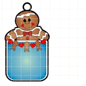 Boy Gingerbread Tag