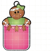 Girl Gingerbread Tag