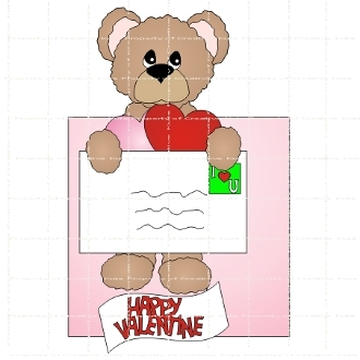 Valentine Mail Hershey Candy Wrapper