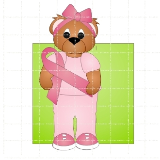 Cancer Support Bear Hershey Candy Wrapper