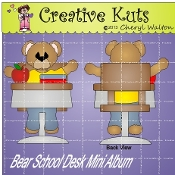 Bear School Desk Mini Album