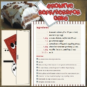 Brownie Refrigerator Cake Scrapbook Recipe Page