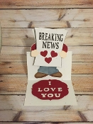 Breaking News Easel Card