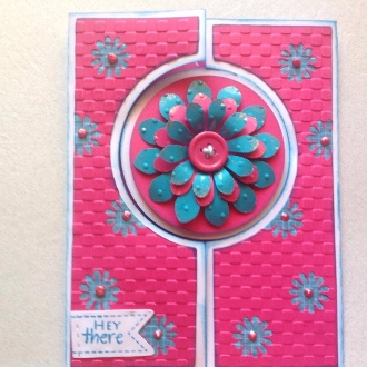 Center Fold Flower Card