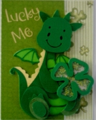 Lucky Me Dragon Shaker Card