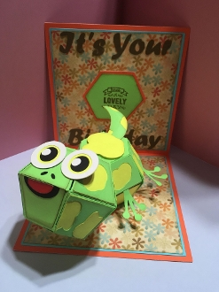Lizard Pop Up Card