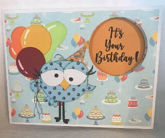 Bird Birthday Peek Card